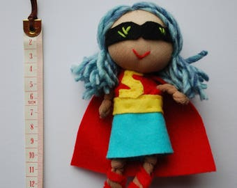 Key ring handcrafted doll