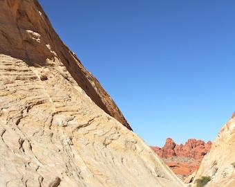Desert Art Print, Nature Photography Blue Adventure Landscape Wall Art Wall Decor Zen Rustic
