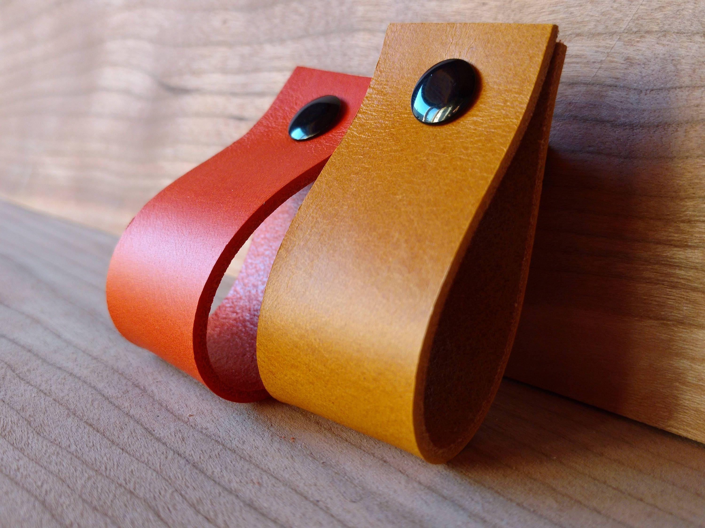Leather Pulls 3mm 7 5oz Leather Handles Loops Dresser Drawer