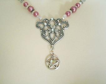 Pentacle Necklace, wiccan jewelry pagan jewelry wicca jewelry goddess witchcraft pentagram pagan necklace witch necklace wiccan necklace