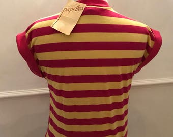 1970's Vintage Original paprika striped top
