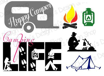 Happy Camper Svg Download Silhouette