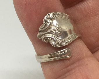 Size 7 Sterling Silver Demitasse Spoon Ring