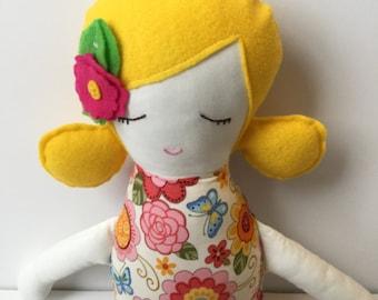 Rag doll, fabric doll, ballerina doll, toys for children, soft toys, stuffed toys, soft doll
