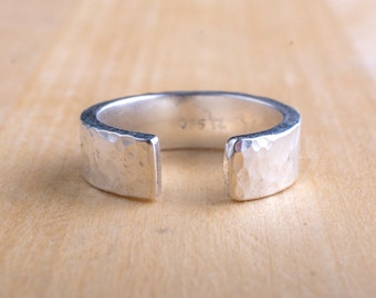 Open Hammered Ring