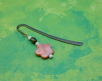Bookmark Flower Mother of Pearl