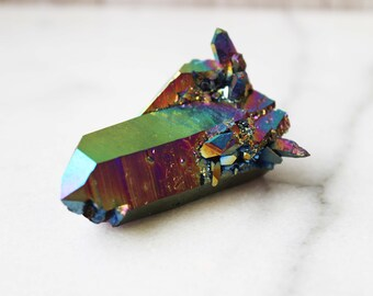Large Rainbow Aura Quartz Crystal Cluster | #22