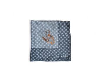 Blue Scarf /  Fursteberg Scarf / Print Scarf  / Vintage 80s / Women Accessories Scarves / Vintage Scarves