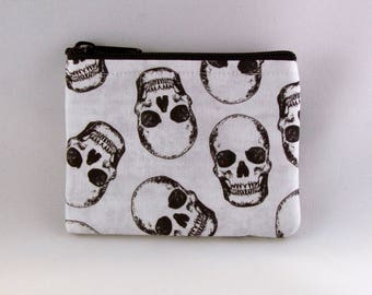 Skulls Coin Purse - Coin Bag - Pouch - Accessory - Gift Card Holder