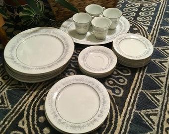 Vintage NORITAKE MARYWOOD 2181 Lot of 24 dishes fine China
