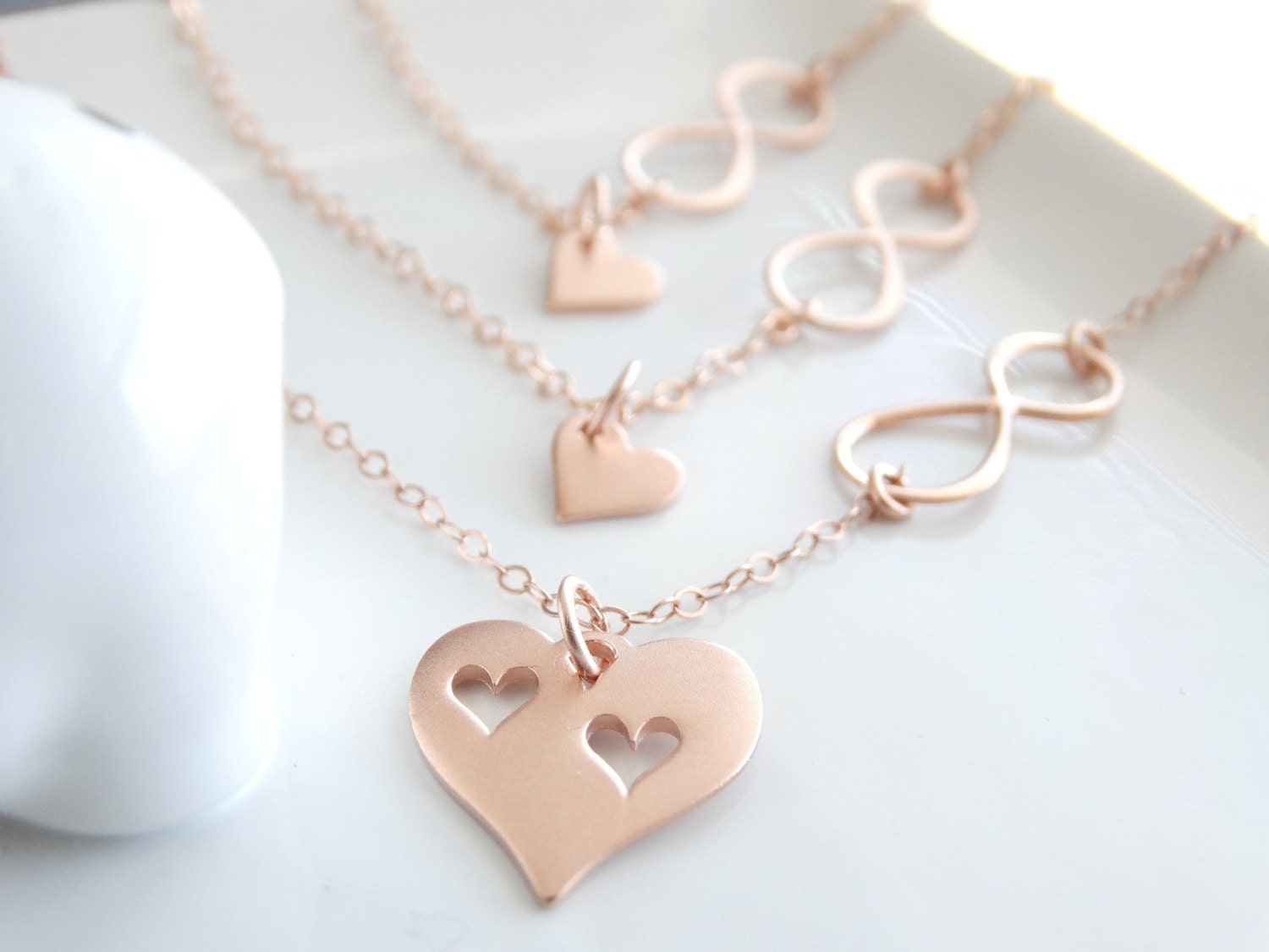 fullxfull listing bridal il gift cutout daughter heart infinity zoom shower mother necklace