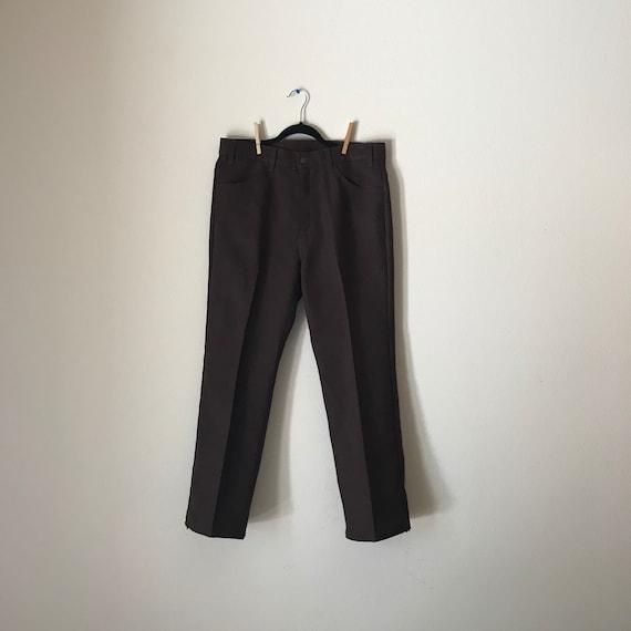 Plus Size Levi's | 70s brown high waist UNISEX XL xxl straight leg boot cut men women slacks trousers bottoms 36 waist