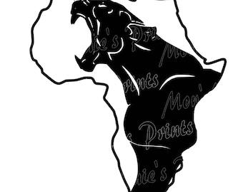 Black panther svg | Etsy