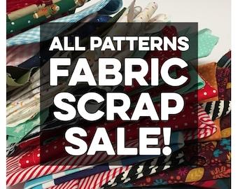 SALE PATTERN Fabric Scraps, Scrap Fabric, Scrap Pack of PATTERN Fabric, Quilting Fabric, Cotton Scraps, Crafts