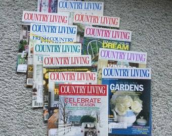 2000 Country Living Magazines, Vintage