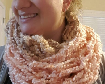 Arm-knit Infinity or Open Scarf