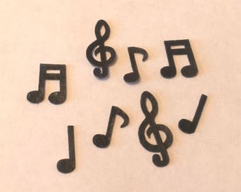 Edible Wafers-Black Music Notes x 20- Cake Decorations