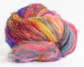 HOLI 2.2 oz  Wool - Merino- Art Batt // Wool Art Batt for spinning or felting