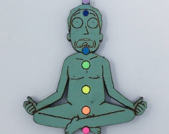 The Seven Pathetic Chakras of Jerry Smith Pin | Glow-in-the-Dark Rick and Morty Pin