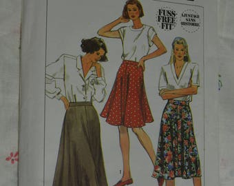 Simplicity 9525 Misses Skirt in Three Lengths Sewing Pattern - UNCUT - Size 12 14 16