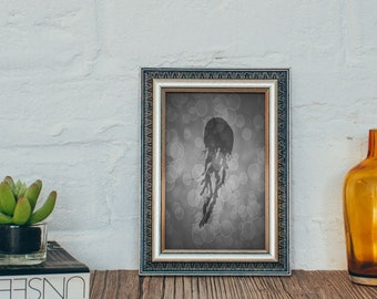 Jellyfish Print, Jellyfish Art, Sea Life Prints, Sea Life Art, Jellyfish Decor, Ocean Gifts, Under the Sea, Beach House Decor, 4 x 6, 5 x 7