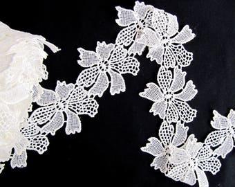 Cellino Flower Lace, Floral Lace Applique, Flower Venice Lace, DIY Craft,Costume Embellishment ,Flower Lace Trim Lace
