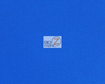 "Neoprene Scuba Techno Athletic Double Knit All-Purpose Fabric - ROYAL BLUE - Sold By The Yard 58"" Width Lycra Activewear"