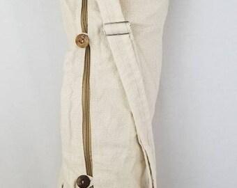 Yoga bag fair trade boho hippie handmade hemp