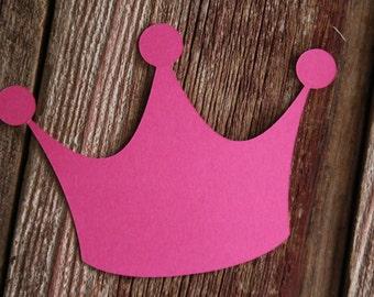 LARGE Paper Crown, Crown Cut Out, Princess Crown, Paper Crowns, Birthday Crown, Princess Party Decor, Crown Die Cuts,