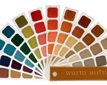 Color Harmony Swatch Book for Warm Autumn