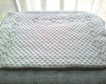 PDF Crochet baby pram boarded blanket pattern.