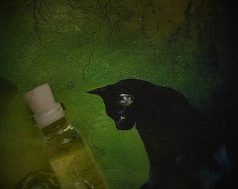 MY BELOVED CAT Crafted Ritual Oil, Anointing Oil, Pet Oil, Spell Oil, Wicca, Witchcraft, Pagan Hoodoo~ The Beach Witch