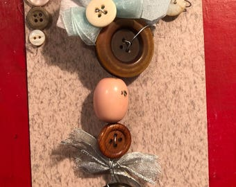Buttons and Ribbon Piece