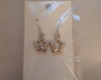 Metallic Star Earrings FREE SHIPPING