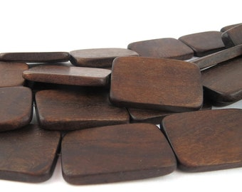 Robles Wood Flat Rectangles, 35mm, strand