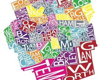 Typographic Map of London, Ontario
