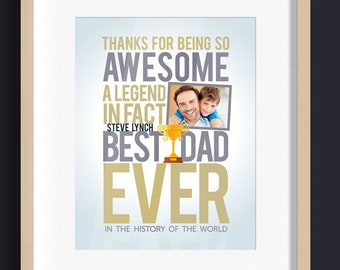 Father day gift, Custom Father Day Poster, Printable poster, Digital poster, Best Dad Ever