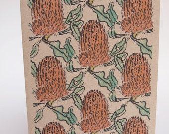 Greeting Card- Banksia
