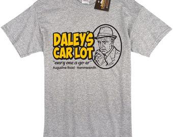 Daley's Car Lot Minder Inspired Short Sleeve T Shirt - Retro 80's British TV - Mens or Womens