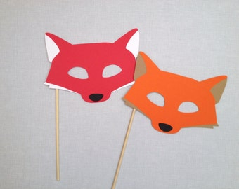 Fox Photo Booth Prop - Fox Mask - Animal Photo Booth Props