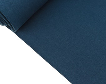 Smooth Bündchenware Lapis Blue Uni (8.70 EUR/meter)
