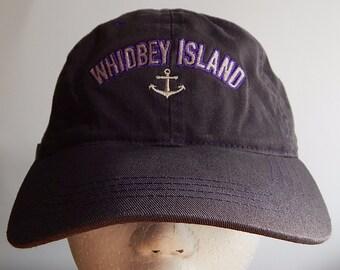 Whidbey Island Washington State Naval Air Station Dark Gray Adult Baseball Cap Hat