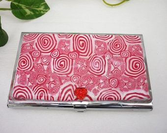 Business cards holder  handmade with polymer clay