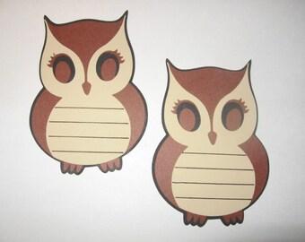 Set of 2 Owl Journaling Tags