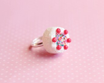 Miniature Cake Ring, Miniature Food Jewelry