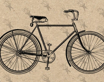 Vintage Bike Bicycle image Instant Download printable Vintage picture clipart digital graphic scrapbooking, burlap, stickers etc 300dpii