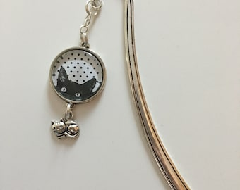 Silver cat bookmark