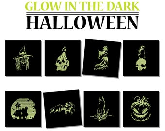 Machine Embroidery Designs - Glow in the Dark Halloween Collection of 8