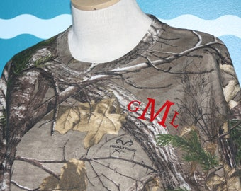 Camo Monogrammed Shirt - Personalized Camouflage shirt - Monogrammed Camouflage - Wedding Camo T-Shirt - Plus Size Camo Shirt