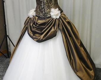 Steampunk wedding dress, Victorian wedding dress, Gothic wedding dress, prom dress, wedding dress, halloween costume, steampunk ballgown